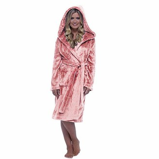 URSING Women Warm Dressing Gown with Hooded