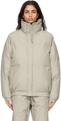 Essentials Beige Nylon Puffer Jacket