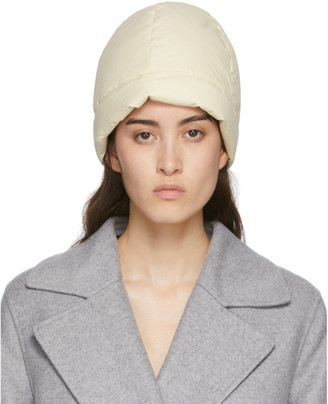 Jil Sander Reversible Off-White Down Beanie