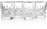 Godinger Dublin Platinum Double Old Fashioned Glasses, Set of 4