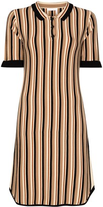 See by Chloe Striped Collared Dress