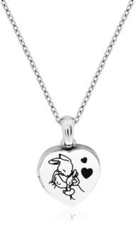 Rhona Sutton Beatrix Potter Sterling Silver Mother Rabbit Heart Locket Necklace