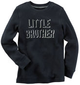 Carter's Long-Sleeve Foil Print Little Brother Graphic Tee
