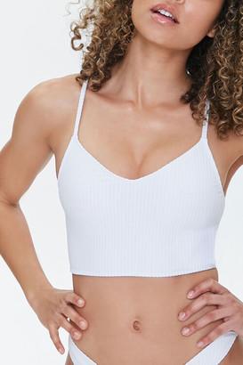 Forever 21 Ribbed V-Neck Bralette Bikini Top