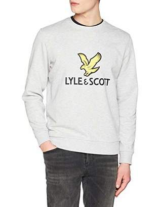 Lyle & Scott Men's Logo Sweatshirt Light Grey Marl D24, ((Size:M)