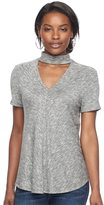 Juicy Couture Women's Marled Choker Neck Tee