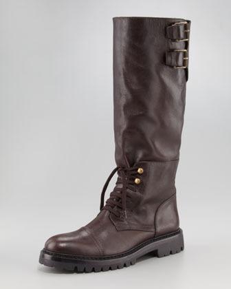 Belstaff Laced Calfskin Knee Boot