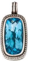 David Yurman Sterling Diamond & Blue Topaz Pendant
