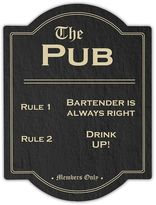 Cathy's Concepts Cathys concepts Pub Rules Bar Sign