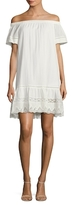 Rebecca Taylor Cotton Lace Inset Shift Dress
