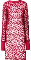 Nicopanda sheer heart tunic