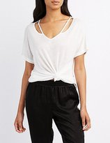 Charlotte Russe Strappy Cut-Out Tee