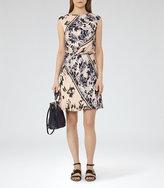 Reiss Celia Printed Silk Dress