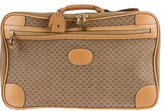 Gucci Leather-Trimmed GG Luggage
