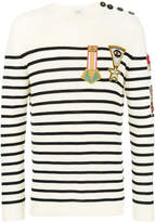 Valentino military embroidered jumper