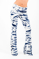 Saint Grace Ashby Foldover Flare Pants In Liberty Tiger Wash