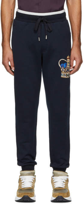 Dolce & Gabbana Blue Crown Lounge Pants