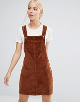 Brave Soul Cord Pinafore Dress
