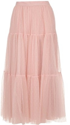 RED Valentino Flounced Point D'esprit Tulle Skirt