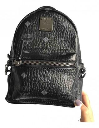 MCM Stark Black Leather Backpacks