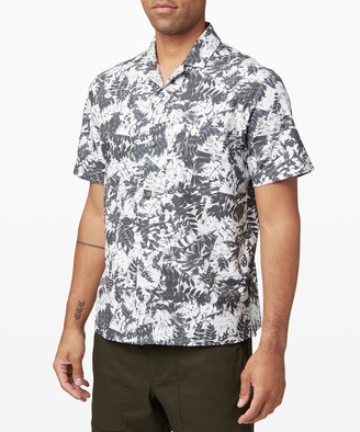 Lululemon Airing Easy Camp Collar Short Sleeve Shirt
