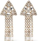 Elizabeth Cole Ivyanne gold-plated Swarovski crystal earrings