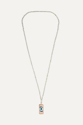 Diane Kordas Evil Eye 18-karat Rose Gold, Aquamarine And Diamond Necklace - one size