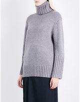 Protagonist Ladies Grey Knitted Luxe Oversized Silk