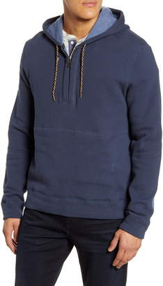 Billy Reid Half Zip Fleece Hoodie