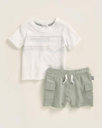 Splendid Newborn/Infant Boys) Two-Piece Short Sleeve Pocketed Tee & Shorts Set