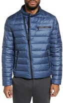 Kenneth Cole New York Men's Asymmetrical Full Zip Insulated Puffer Jacket