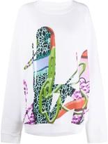 Maison Margiela psychedelic print sweatshirt