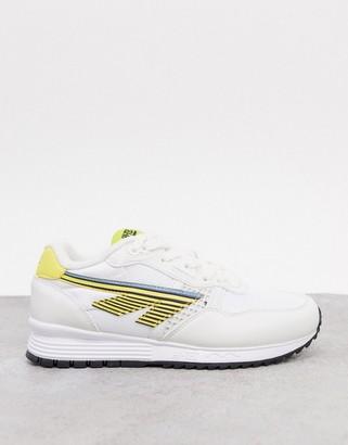 Hi-Tec BW 146 runner sneakers in white yellow