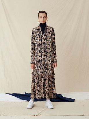 Libertine-Libertine Pale Snake Switch Dress - viscose | Size XS