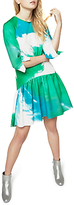 Closet Printed Hem Dress, Multi