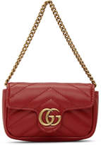Gucci Red Marmont 2.0 Coin Case Bag