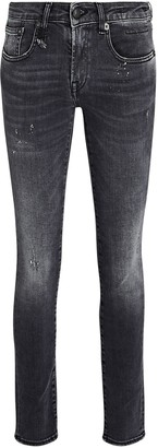 R 13 Kate Distressed Skinny Jeans