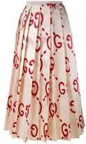 Gucci 'Gucci Ghost' logo print skirt