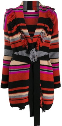 Schumacher Dorothee striped wrap cardi-coat