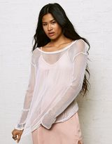 American Eagle Outfitters Don't Ask Why Open Mesh T-Shirt