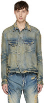 Julius Indigo Distressed Denim Jacket