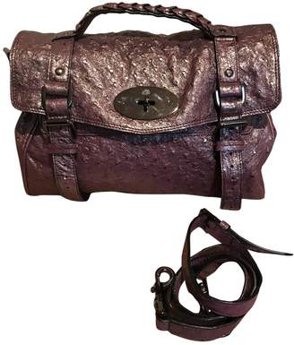 Mulberry Alexa Purple Ostrich Handbags