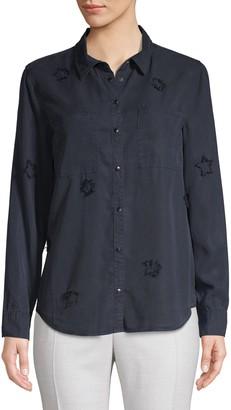 Jak & Rae Jak&Rae Distressed Star Button-Down Shirt