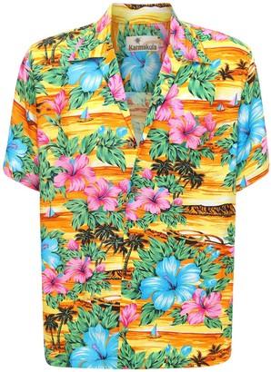 San Andres Yellow Printed Hawaiian Shirt