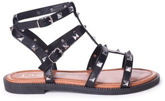Linzi BILLIE - Black Studded Gladiator Sandal With Embellished Sole