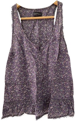 Zadig & Voltaire Spring Summer 2019 Purple Cotton Top for Women
