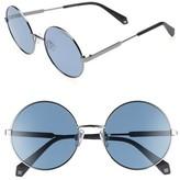 Polaroid Women's 55Mm Polarized Round Sunglasses - Blue