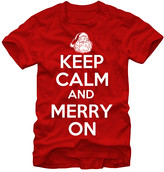 Chin Up Apparel Men's Tee Shirts RED - Red 'Keep Calm And Merry On' Tee - Men