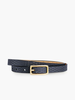 Talbots Skinny Perforated Leather Belt