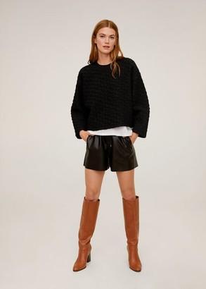 MANGO Textured sweatshirt